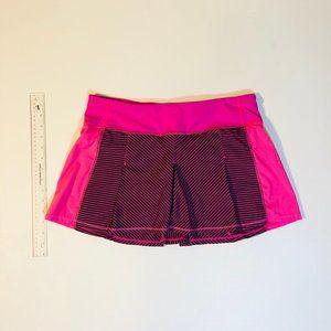 Lululemon Fast Cat Hyper Stripe Run Skirt
